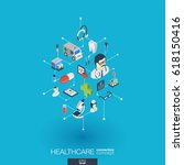 healthcare  integrated 3d web... | Shutterstock .eps vector #618150416