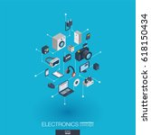 electronics integrated 3d web... | Shutterstock .eps vector #618150434