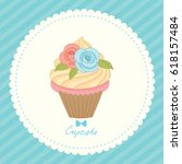 illustration vector of cupcake... | Shutterstock .eps vector #618157484