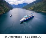 cruise ship  cruise liners on... | Shutterstock . vector #618158600