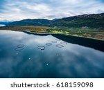 farm salmon fishing in norway... | Shutterstock . vector #618159098