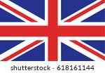flag of united kingdom | Shutterstock .eps vector #618161144