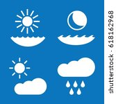 Set Of 4 Weather Filled Icons...