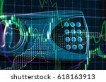 investment growth concept with... | Shutterstock . vector #618163913
