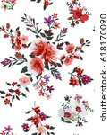 seamless floral pattern in... | Shutterstock .eps vector #618170090
