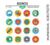 business icons. modern thin...