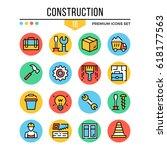 construction icons. modern thin ...