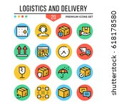 logistics and delivery icons....