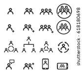 people icons line work group... | Shutterstock .eps vector #618180698