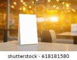 mock up label the blank menu... | Shutterstock . vector #618181580