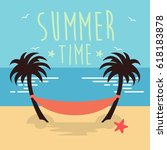 summer illustration | Shutterstock .eps vector #618183878