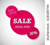 sale special offer banner.... | Shutterstock .eps vector #618185744