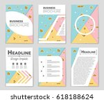 abstract vector layout... | Shutterstock .eps vector #618188624