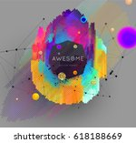 geometric glitch abstract... | Shutterstock .eps vector #618188669