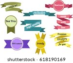 bright colored set of labels ... | Shutterstock . vector #618190169