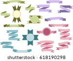 set of light colored vintage... | Shutterstock . vector #618190298