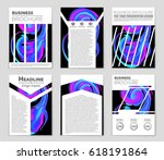 abstract vector layout... | Shutterstock .eps vector #618191864