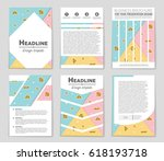 abstract vector layout... | Shutterstock .eps vector #618193718