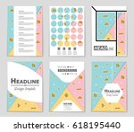 abstract vector layout... | Shutterstock .eps vector #618195440