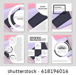 abstract vector layout... | Shutterstock .eps vector #618196016