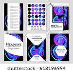 abstract vector layout... | Shutterstock .eps vector #618196994
