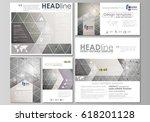 social media posts set.... | Shutterstock .eps vector #618201128