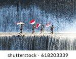 bali   may 22   boys having fun ... | Shutterstock . vector #618203339