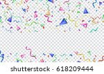 colorful vector serpentine ... | Shutterstock .eps vector #618209444