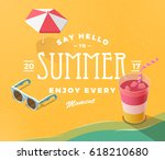 summer vacation template with... | Shutterstock .eps vector #618210680