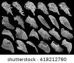 set of hand drawn vintage... | Shutterstock .eps vector #618212780