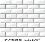 illustration of white tiles... | Shutterstock .eps vector #618216494