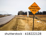 important intersection ahead