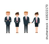 young business people  man and... | Shutterstock .eps vector #618222170