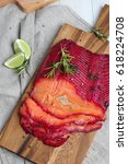 gravlax   cured salmon | Shutterstock . vector #618224708
