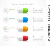 medical pill infographic with... | Shutterstock .eps vector #618231248