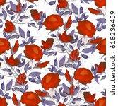 seamless pattern. watercolor... | Shutterstock . vector #618236459