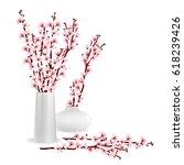 cherry blossom  sakura branches ...   Shutterstock .eps vector #618239426