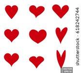 hearts. background. valentine's ...   Shutterstock .eps vector #618242744