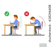 vector   correct body alignment ... | Shutterstock .eps vector #618246608