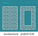 elegant panels with lace... | Shutterstock .eps vector #618247130