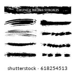 vector brush strokes.hand... | Shutterstock .eps vector #618254513