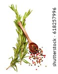 mediterranean food and drink... | Shutterstock . vector #618257996