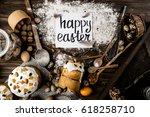 happy easter | Shutterstock . vector #618258710