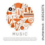 music instruments   vector...   Shutterstock .eps vector #618262076