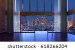 loft style interior design... | Shutterstock . vector #618266204