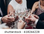 christmas celebration. people... | Shutterstock . vector #618266228