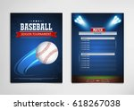 baseball tournament  modern... | Shutterstock .eps vector #618267038