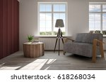 white room with armchair and... | Shutterstock . vector #618268034