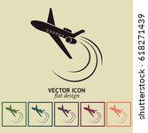 plane icon vector | Shutterstock .eps vector #618271439