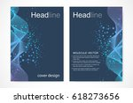 scientific brochure design... | Shutterstock .eps vector #618273656